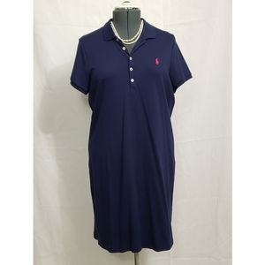 RALPH LAUREN  Short Navy Collared Dress
